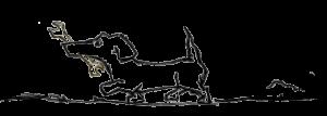 Illustration af hund med svensknøgle i munden