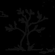 Illustration af et træ med en regnorm